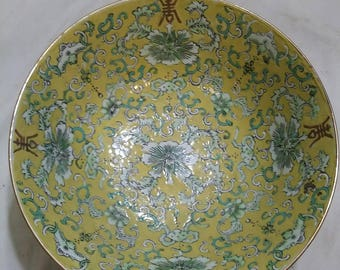 Chinese bowl with gold trim