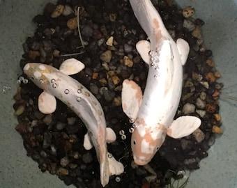 Small Koi Fish Sculpture