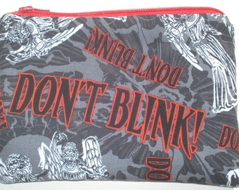 Weeping Angels Zipper Pouch - Don't Blink, Doctor Who.