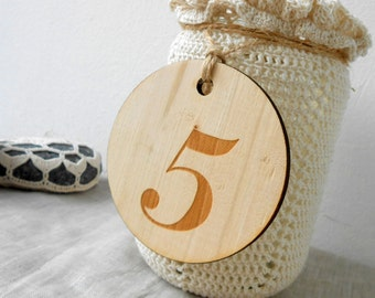 Wooden Table Numbers, Rustic Vineyard Wedding Table Numbers Centerpieces, Barn Farm Woodland Wedding, Table Number Tag