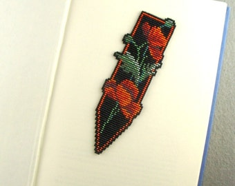 Red Poppies Dagger Bookmark
