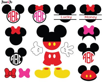 Mickey Svg,Mickey Mouse Svg,Mickey Monogram,Minnie Svg,Minnie Svg File,Mickey Silhouette Cricut,Mickey Svg Frame,Minnie Svg File,Mickey SVG