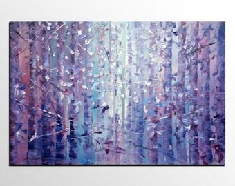 Landscape Painting, Art, Large Art, Canvas Art, Wall Art, Abstract Art, Large Painting, Oil Painting, Abstract Painting, Forest Tree Art