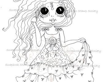 INSTANT DOWNLOAD Digital Digi Stamps Big Eye Big Head Dolls Digi  IMG816 By Sherri Baldy