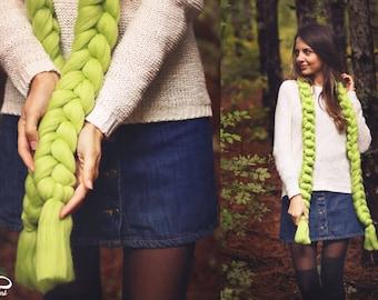 Merino Wool Scarf /Super chunky scarf / Chunky Wool Scarf / Arm Knitting / Super chunky Scarf / Gift fir her / Big Scarf