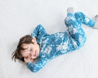 12M-7T 100% Cotton 2pcs Infant Kids Boys Loungewear Pajama Sleepwear Set Paiting