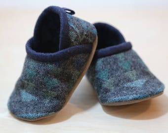 Baby Shoes Made From Pendleton® Wool -  Moccasins - Baby Booties - Toddler Shoes - Wool Slippers