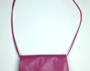 Etra Fuchsia Pink Leather Tassel Crossbody Purse