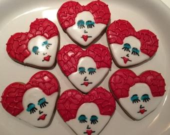 Queen of Hearts Alice in Wonderland Sugar Cookies