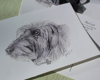 Postcards / Dog Postcard Sets / Irish Wolfhound Postcard Sets  /  Dog Greeting Card / Animal Postcards / Art / 4 piece set