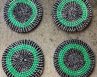Green and Black Coaster