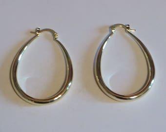 18k Large Gold Filled Earrings Statement Hoops Gold Earrings Gold Hoop Earrings Dainty Earrings Delicate Earrings Minimalist Earrings