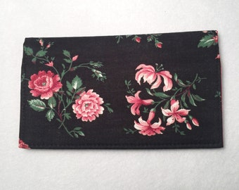 Checkbook Cover, Duplicate Checkbook Cover, Fabric Checkbook, Gift,  Checkbook Holder, Checkbook Register, Flowers, L Miller Creations
