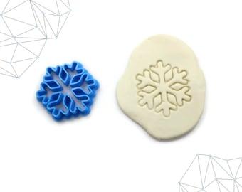 Snowflake Cookie Cutter, Fondant Cutter, 3D Printed, #353