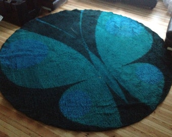 Rare 1960s/1970s butterfly carpet