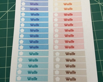 Planner Stickers to plan your walk
