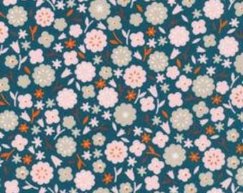SALE!! 1/2  Yard  Stay Gold by Aneela Hoey for Cloud 9 Fabrics- 160613 Primrose Spruce