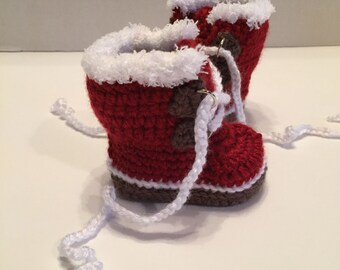 Crochet Baby Booties, Baby Boots, 0-3 Months, Sorel Boots, Expedition Boots