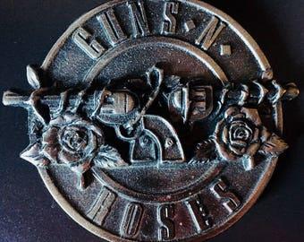 Guns 'N Roses Pewter Belt Buckle 1992