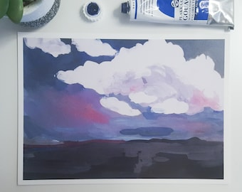 Evening Clouds~Print