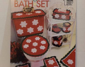 Holiday Bath Set Knitting Crochet Bath Mats 12 Patterns Vintage by Annies Attic