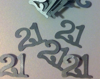 21st Birthday Decorations Table Confetti