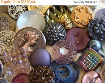 ONSALE 3 DOZEN Antique Renaissance Medieval Queen Victorian Game of Thrones Inspired Glass, Metal and Vintage Mixed Buttons Lot N0 772