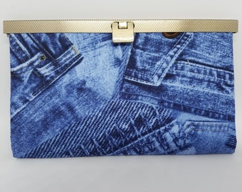 Jeans print Diva wallet