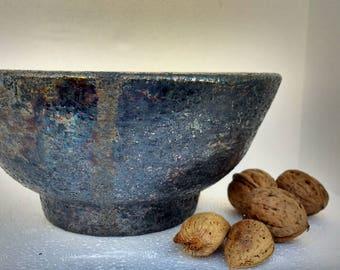 Raku Bowl. Stoneware