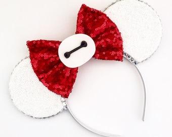 The Big Hero - Handmade Baymax Inspired Mouse Ears Headband