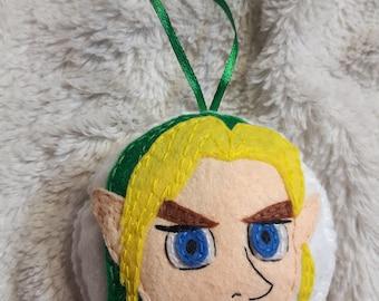 Link - Zelda inspired felt ornament