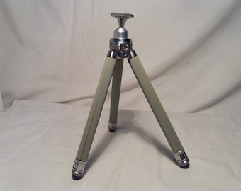 Vintage Camera Brass Telescoping Tripod,,ISING - Bergneustadt''- GERMANY