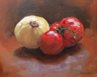 Still life painting original oil 8x10""