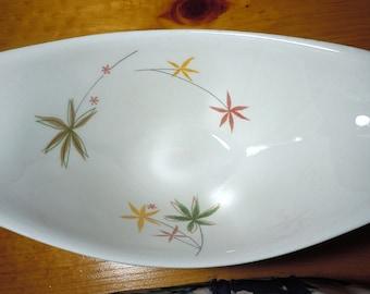 Vintage Ben Seibel Impromptu Gravy Boat by Iroquois, Spring Flowers design, gravy dish, star flowers, true china, tableware