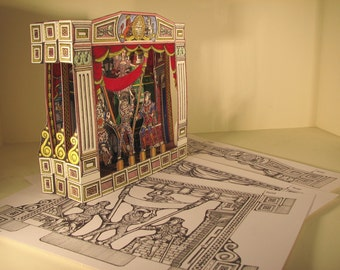 Coloured Harlequinade Theatre Model