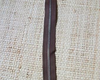 Size 23cm, Brown zipper