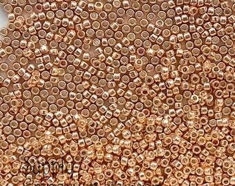 15/0 Toho Seed Beads - 8 Grams - PermaFinish Galvanized Rose Gold - 2259 - Toho 15-PF551 Perma Finish Galvanized Rose Gold