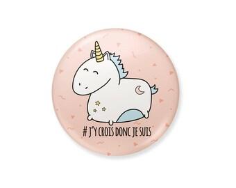 Unicorn badge. I think therefore I am