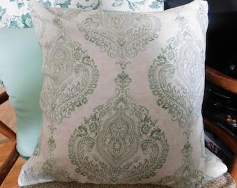 Green and White Boho Pillowcase Cover