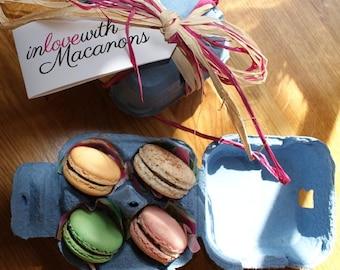 Four delicious handmade Macarons