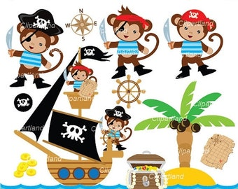 ON SALE INSTANT Download. Pirates monkeys 2. Personal and commercial use.