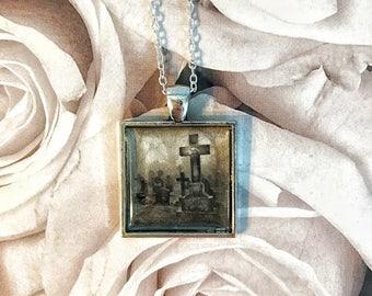 Graveyard pendant necklace