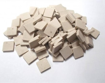 Mosaic Sheet, 75 Tiles. Oatmeal porcelain Great tiles very easy to use and cut.