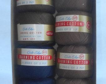 Vintage Skeins of Darning Cotton