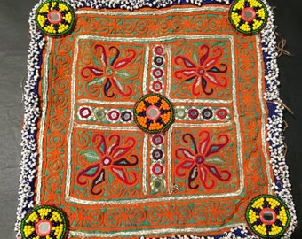 Old Textiles-Pashtun  Embroidery-Antique Embroidery-Pashtun Handwork-Silk Thread-Silk Fabric-Afghanistan  Handmade....