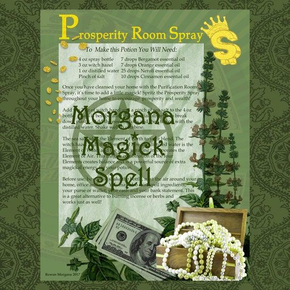 Prosperity Room Spray Potion