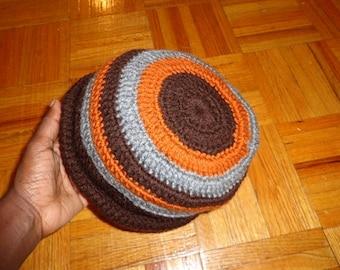 Old Carrot Brown, Crochet Winter Cap