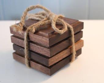 Custom Walnut Wooden Coasters