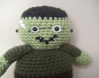 Sale - Amigurumi Crochet Frankenstein Pattern Digital Download