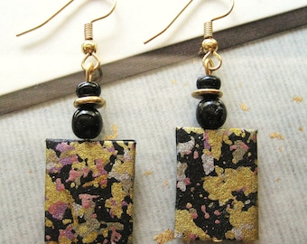 Item-17-Japanese washi paper earrings by heavenly cranes jewelry